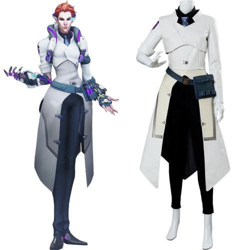 Overwatch Moira O'Deorain Blass Skin Cosplaz Kostüm Wissenschaftler Haut