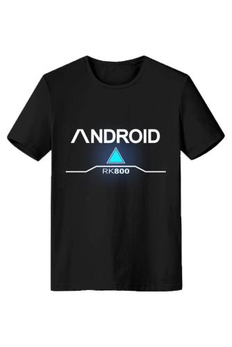 Detroit: Become Human Connor RK800 T-Shirt Tee Kurzarm Top Schwarz
