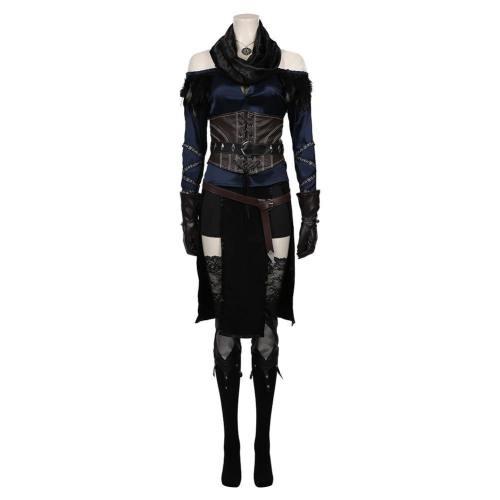 The Witcher 3: Wild Hunt Hexe Yennefer Kostüm Cosplay Halloween Karneval Kostüm