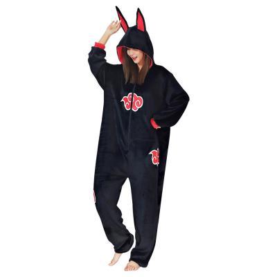 Naruto Akatsuki Cloud Cosplay Pajama Unisex Polyester Pyjamas Halloween Karneval Kostüme für Erwachsen Schlafanzug