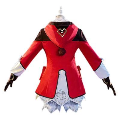 Klee Genshin Impact Cosplay Kostüm Damen Halloween Karneval Kostüm