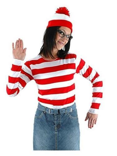 Where's Waldo Waldo Waldo & Friends Wo ist Walter? Wenda T-shirt Tee Langarm Cosplay Kostüm