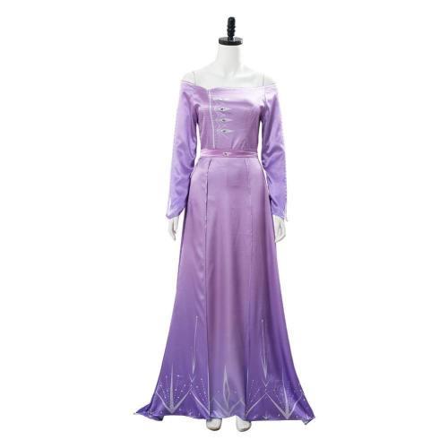 Frozen 2 Elsa Die Eiskönigin 2 Prinzessin Königin Elsa Kleid Lila Cosplay Kostüm