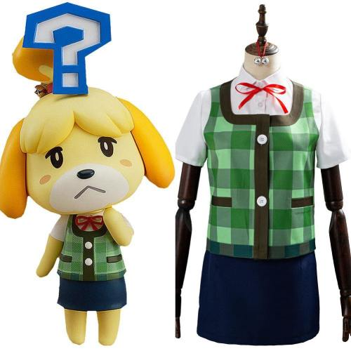Animal Crossing Isabelle Kostüm Kleid Halloween Karneval Cosplay Kostüm Set