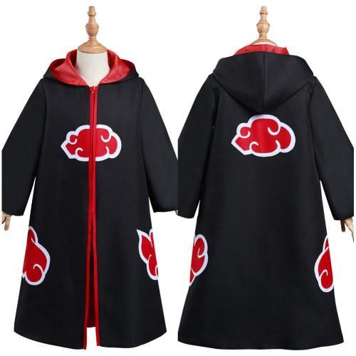Naruto Akatsuki Kinder Kostüm Kinder Umhang Halloween Karneval Kostüm mit Kaputze