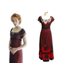 Titanic Rose Kleid Victorian Cosplay Kostüm Rot