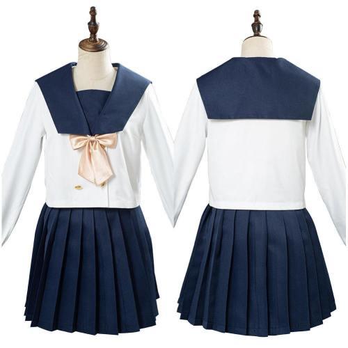 JK Japanische Uniform Schuluniform Studentin Unform Matroseanzug Cosplay Kostüm mit gelb Bogen
