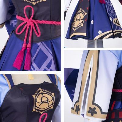 Genshin Impact Ayaka Cosplay Kostüm Kleid Halloween Karneval Outfits