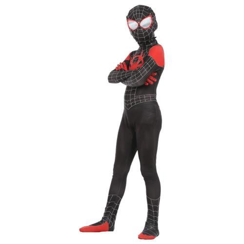 Spider-Man: Into the Spider-Verse Spider-Man: A New Universe Miles Morales Jumpsuit für Kinder Jungen Cosplay Kostüm