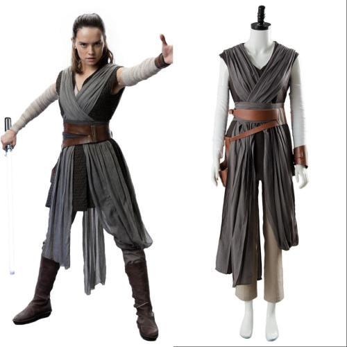 Star Wars 8 Die letzten Jedi Rey Outfit Ver.2 Cosplay Kostüm
