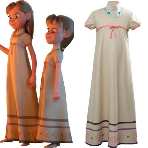 Frozen 2 Die Eiskönigin 2 Anna Elsa Kleid Schlafanzug Pajama Cosplay Kostüm