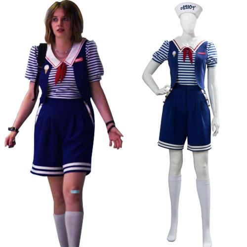 Robin Stranger Things 3 Scoops Ahoy Uniform Cosplay Kostüm NEU
