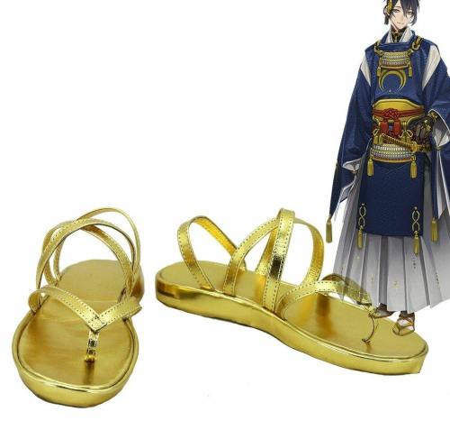 Touken Ranbu Mikazuki Munechika Cosplay Schuhe Gold