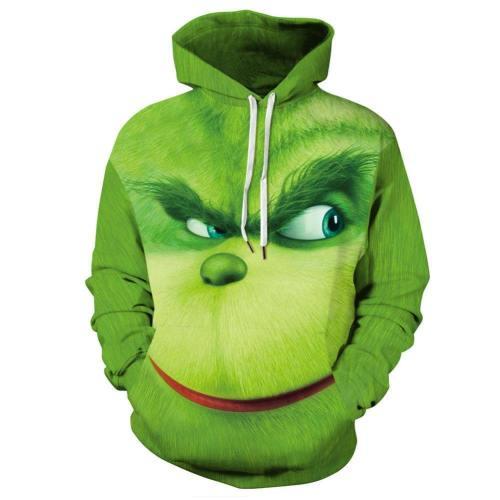 Erwachsene The Grinch Der Grinch Hoodie Sweatshirt Pullover mit Kaputze Pulli