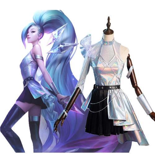 League of Legends LOL KDA The Baddest Seraphine Cosplay Kostüme Halloween Karneval Suit