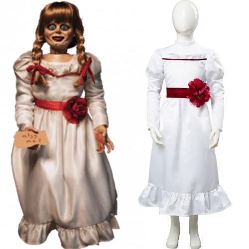 Annabelle 3 Kleid Cosplay Kostüm Weiß Kleid für Kinder