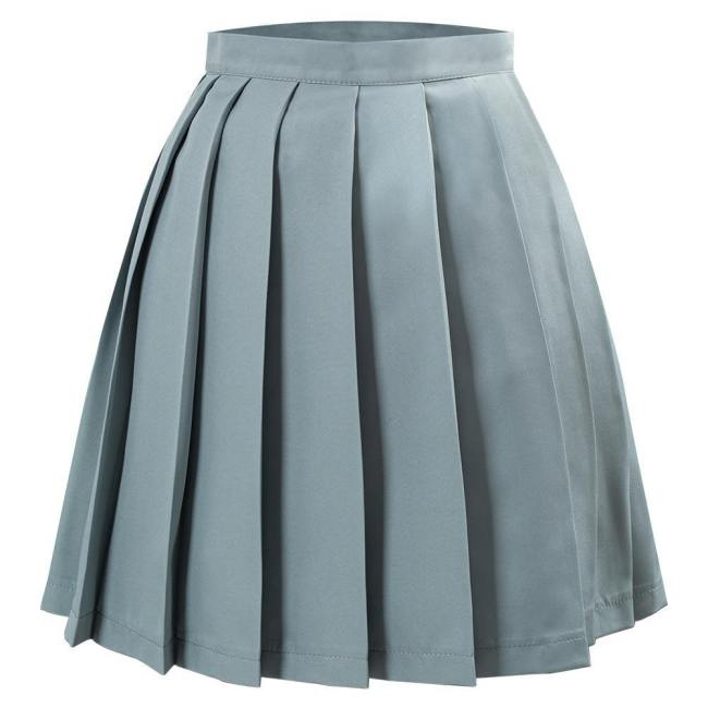 Japanische Schuluniform Faltenrock Jk Uniform Mini Röcke für Mädchen hellgrün
