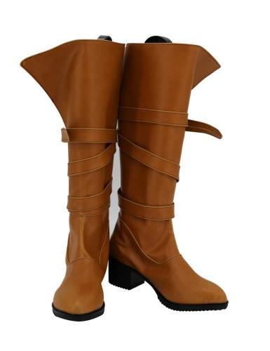 The Witcher 3 Wild Hunt Ciri Cirilla Fiona Elen Stiefel Cosplay Schuhe