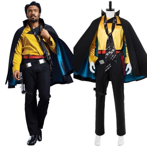 Solo: A Star Wars Story Lando Calrissian Cosplay Kostüm Set