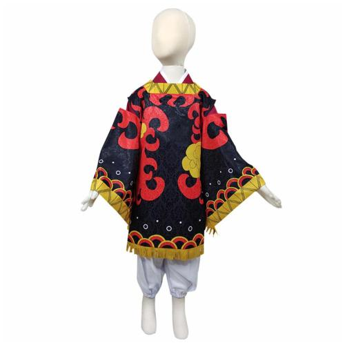 Kinder Demon Slayer Kamado Tanjuurou Kostüm Kimono Halloween Karneval Outfits