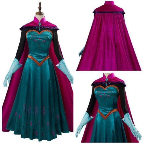 Film Frozen Elsa Königin Kostüm Cosplay Kostüm Kleid Halloween Karneval Kostüm