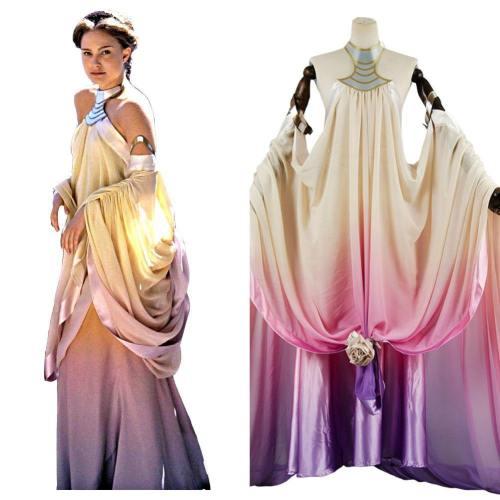 Star Wars 3 Padme Amidala Naberrie Kleid Cosplay Kostüm Bekleidung
