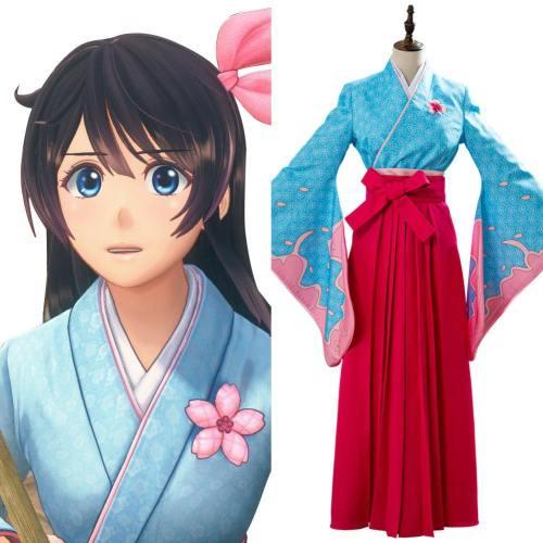 Kimono Kostüm Cosplay New Sakura Wars Sakura Amamiya Sakura Taisen