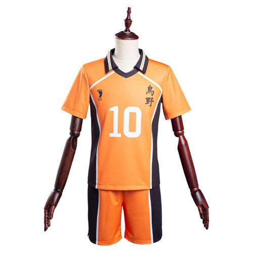 Haikyuu Karasuno High Shoyo Hinata Nummer 10 Cosplay Kostüm T-shirt Schuluniform