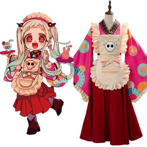 Cosplay Nene Yashiro Kimono Diestmädchen Kleid Toilet-Bound Hanako-kun Kostüm
