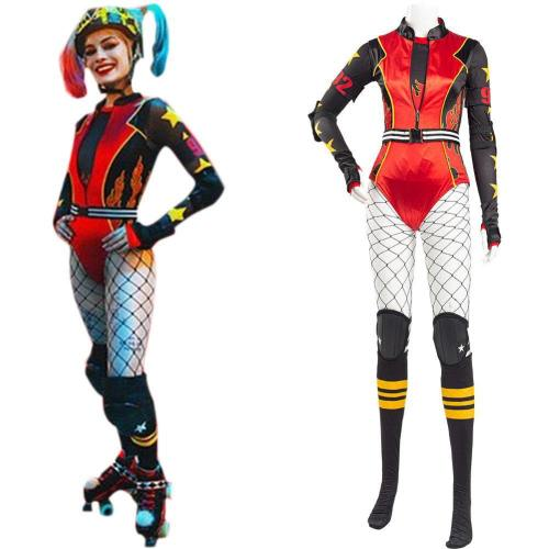 Birds of Prey: And the Fantabulous Emancipation of One Harley Quinn Jumpsuit Roller Derby Outfit Cosplay Kostüm
