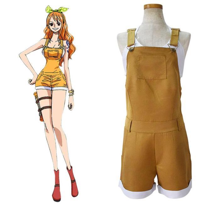 One Piece Nami Cosplay Kostüm Halloween Karneval Outfits