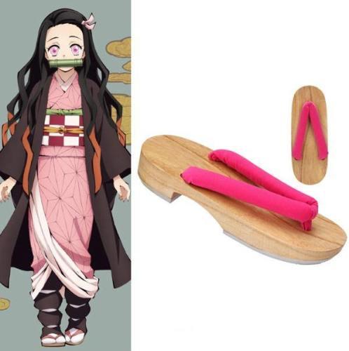 Demon Slayer: Kimetsu no Yaiba Nezuko Kamado Pantoffel Cosplay Schuhe