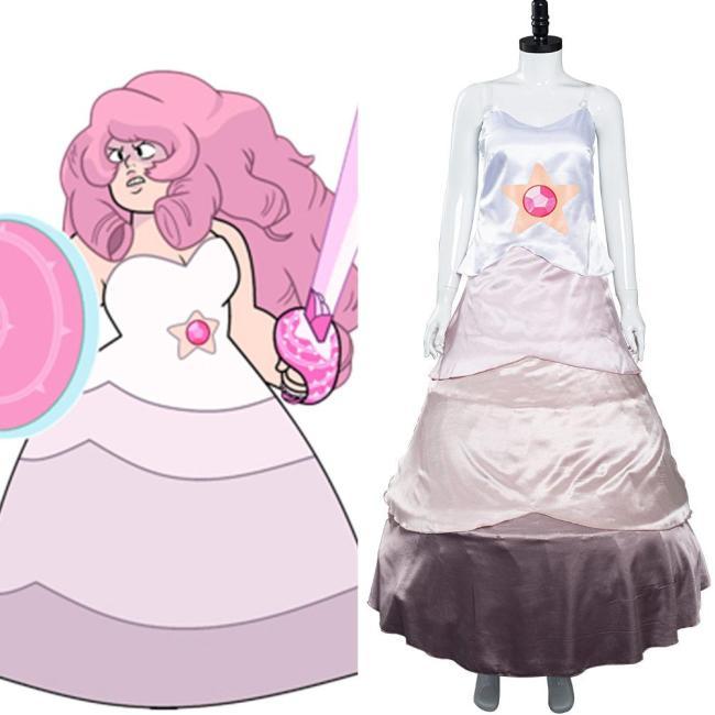 Steven Universe Rose Quartz Kleid Cosplay Halloween Karneval Kostüm