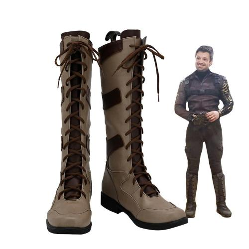 The Falcon and the Winter Soldier Cosplay Bucky Barnes Stiefel Cosplay Schuhe