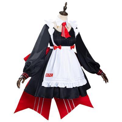 Genshin Impact x KFC Noelle Dienstmädchen Kleid Cosplay Halloween Karneval Kostüm
