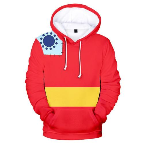 One Piece Wano Country Luffy Hoodie Cosplay Hoodie Druck Hooded Sweatshirt Pullover mit Kaputze