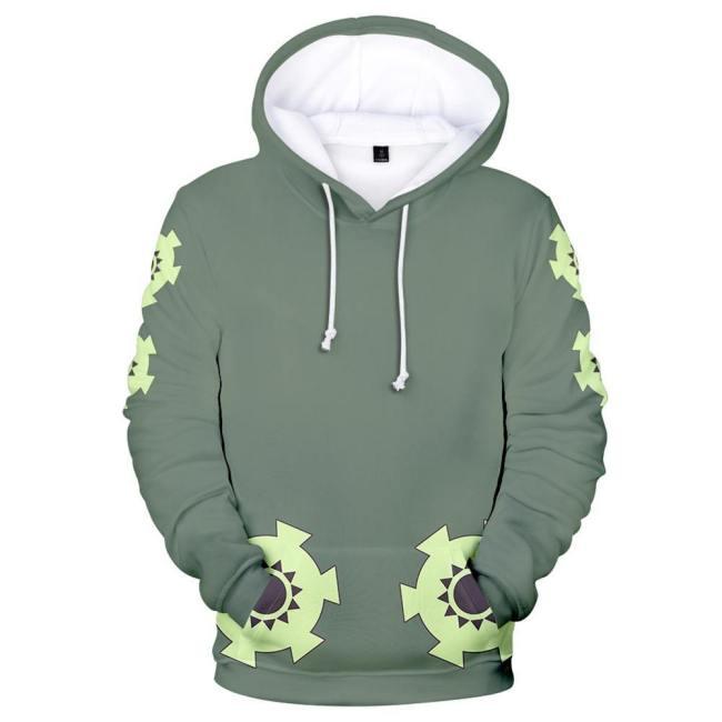 One Piece Wano Country Roronoa Zoro Hoodie Hooded Sweatshirt Pullover mit Kaputze für Erwachsene