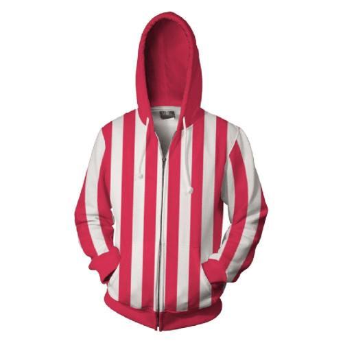 ONE PIECE Hoodie Jacke mit Reißverschluss Pullover mit Kaputze Sweatshirt Streifen Erwachsene Jungen