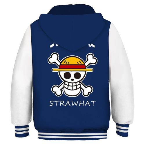 ONE PIECE STRAWHAT Hoodie Kaputzpullover Hooded Pulli für Kinder