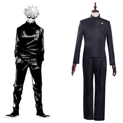 Jujutsu Kaisen Gojo Satoru Cosplay Kostüm Schuluniforme Halloween Karneval Outfits