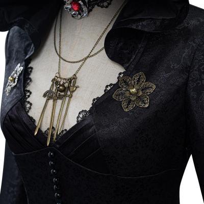 Resident Evil Village Alcina Dimitrescu Schwarz Kleid Cosplay Kostüm