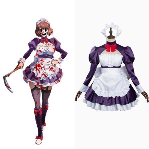 High Rise Invasion Maid-fuku Kamen Cosplay Kostüme Dienstmädchen Kleid Halloween Karneval Outfits Version B