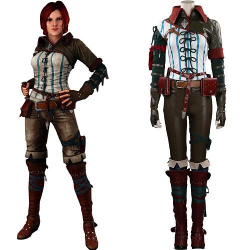 The Witcher Triss Merigold Cosplay Kostüm Halloween Karneval Outfits