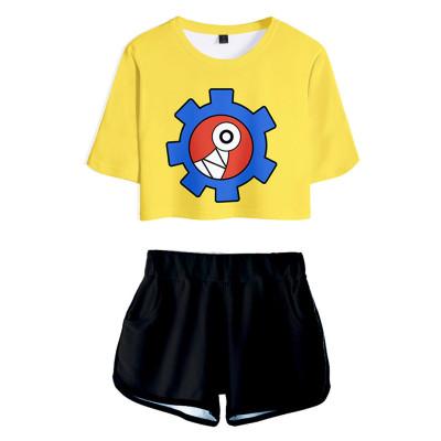 SK8 the Infinity Reki T-Shirt Oberteil Shorts 2 tlg Sommer Outfits Set für Erwachsene
