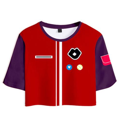 Wonder Egg Priority Rika Kawa T-Shirt Oberteil Shorts 2 tlg Sommer Outfits Set für Erwachsene