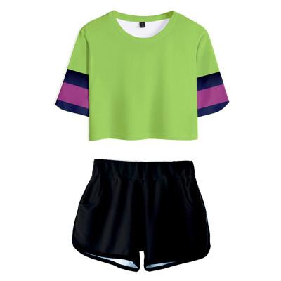 SK8 the Infinity Miya T-Shirt Oberteil Shorts 2 tlg Sommer Outfits Set für Erwachsene