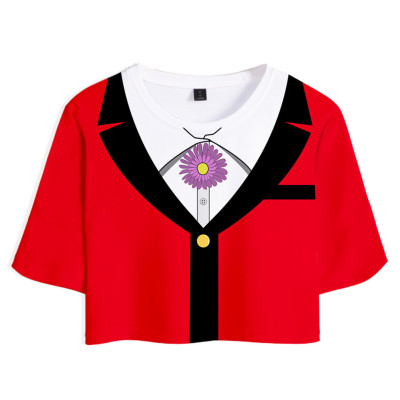 Yumemi Yumemite Kakeguri Compulsive Gambler Yomoduki T-Shirt Oberteil Shorts Sommer Outfits Set 2 tlg für Erwachsene
