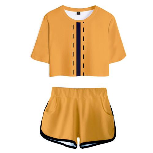 Kakeguri Compulsive Gambler Yomoduki Runa T-Shirt Oberteil Shorts 2 tlg Sommer Outfits Set für Erwachsene