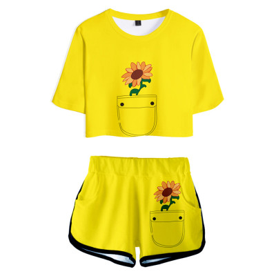 Wonder Egg Priority Ohto Ai T-Shirt Oberteil Shorts 2 tlg Sommer Outfits Set für Erwachsene
