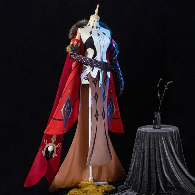 Genshin Impact Fatui NPC La Signora Cosplay Kostüm Uniform Halloween Karneval Kostüm